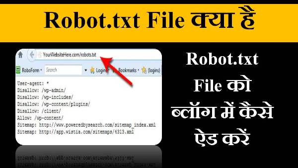 robot.txt file in hindi