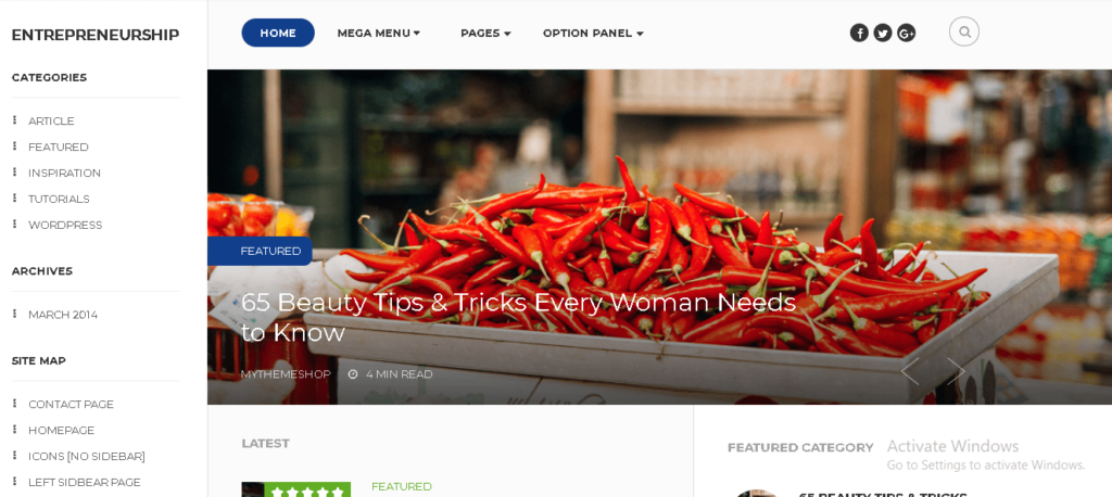 Entrepreneurship Paid WordPress Theme