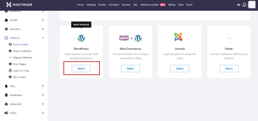 Select to WordPress