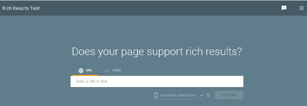 Rich Result Testing Tool