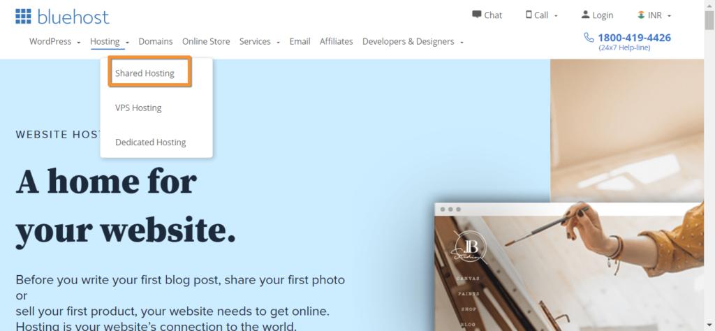 select shared hosting